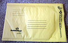 """Padded Mailer"" by Surv1v4l1st - Own work. Licensed under CC BY-SA 3.0 via Wikimedia Commons - https://commons.wikimedia.org/wiki/File:Padded_Mailer.jpg#/media/File:Padded_Mailer.jpg"